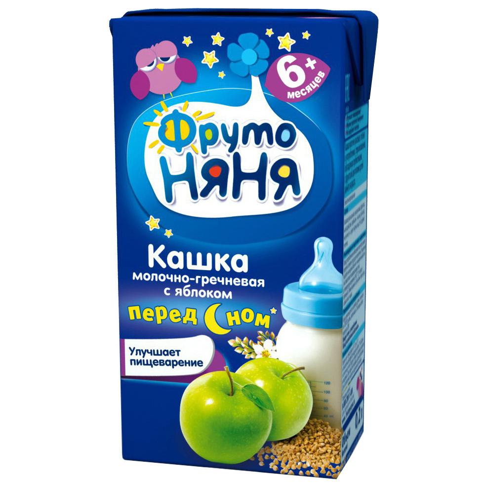 Каша молочная ФрутоНяня Гречневая с яблоком