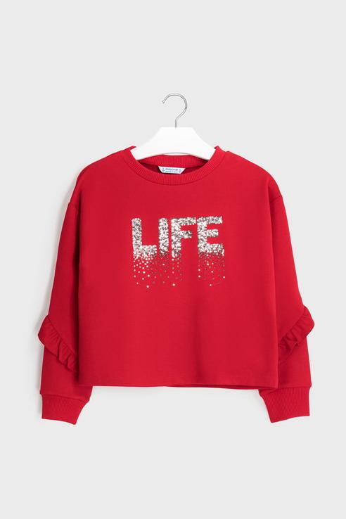 Пуловер Mayoral 7402 цв.красный р.140