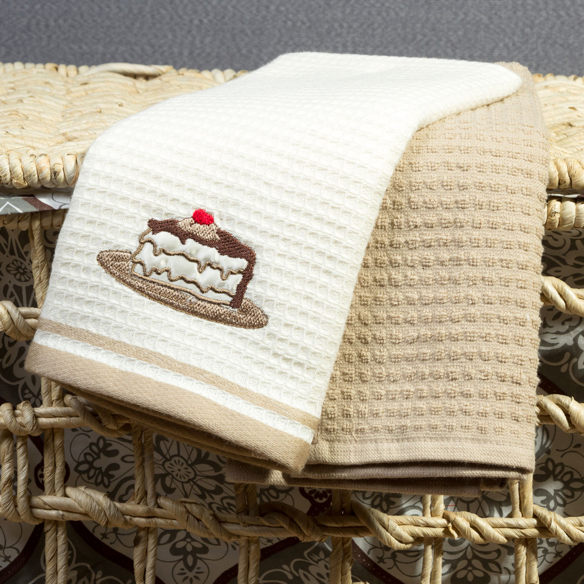 Кухонное полотенце Arya Wesley Цвет: Кремовый, Бежевый