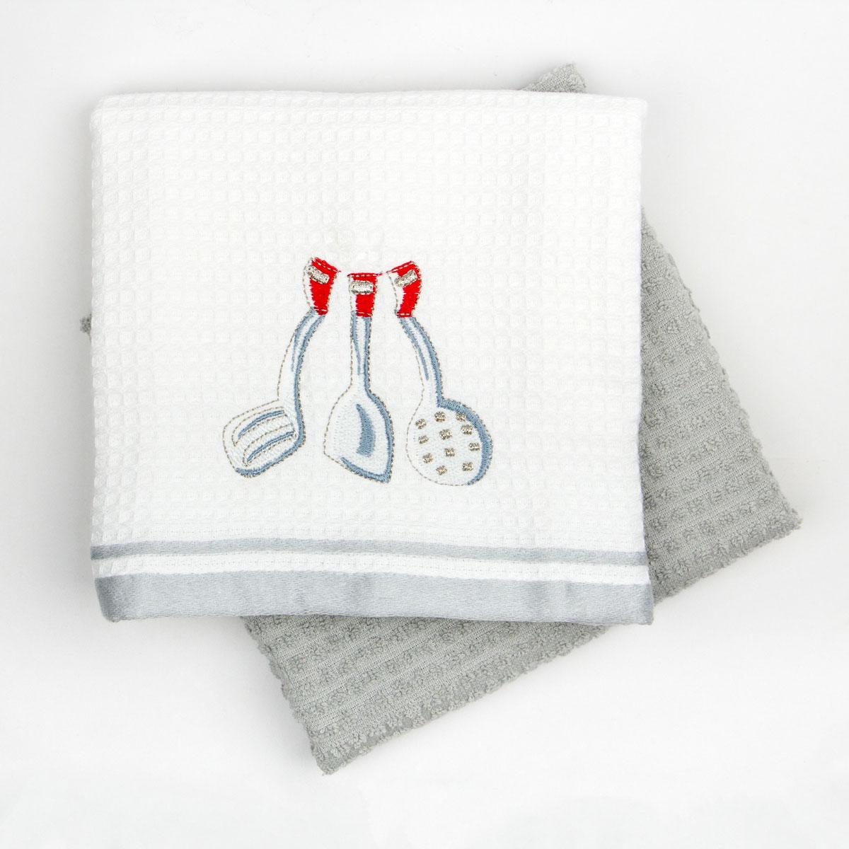 Кухонное полотенце Arya Melisa Цвет: Белый, Серый