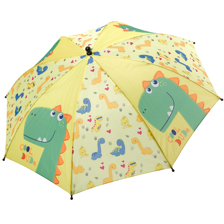 Автоматический детский зонт Bondibon Дракончики желто зеленый,