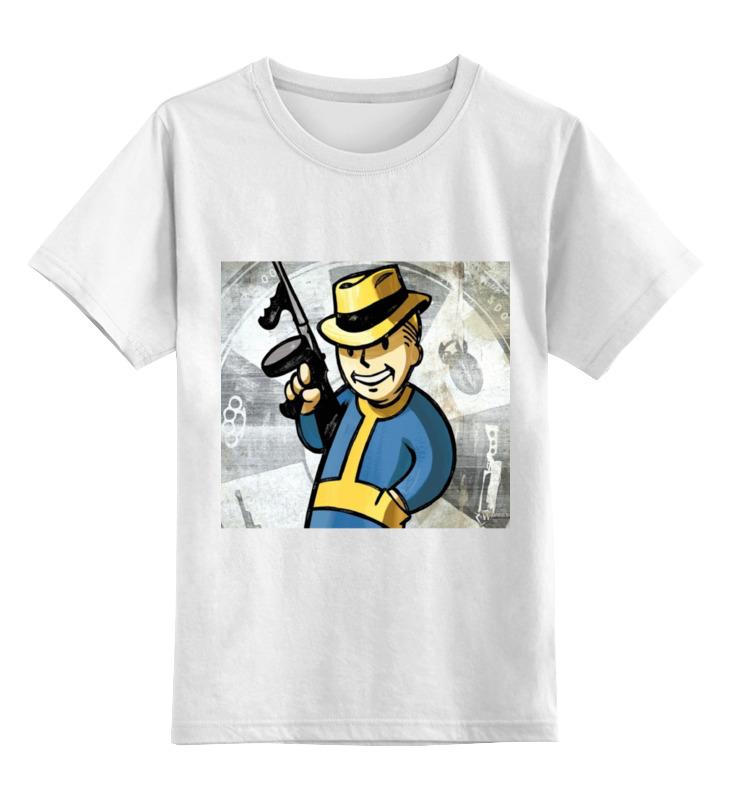 Детская футболка Printio Фоллаут цв.белый р.140 0000000756077 по цене 686
