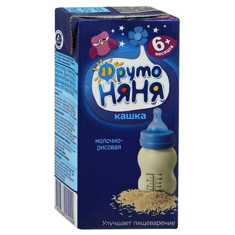 Каша молочная ФрутоНяня Рисовая с 6 мес.