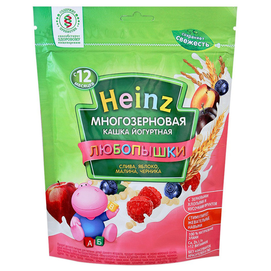Каша молочная Heinz Многозерновая слива, абрикос, черника с 12 мес. 200 г
