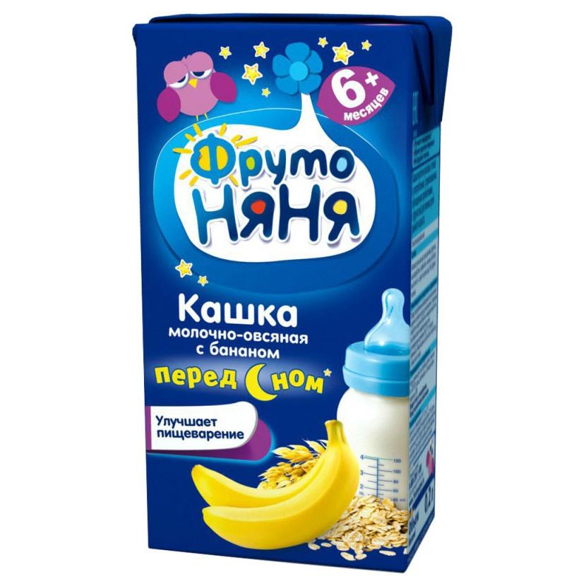 Каша молочная ФрутоНяня Овсяная с бананом