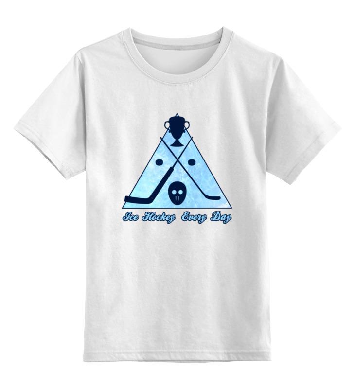 Детская футболка Printio Ice hockey цв.белый р.140 0000000752946 по цене 790
