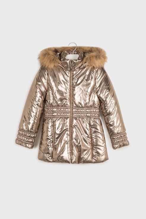 Куртка с капюшоном Mayoral 7416 цв.золотой р.152 7416/_золотой