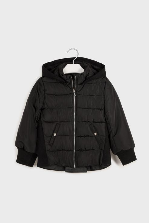 Комбинированная легкая куртка Mayoral 7413 цв.черный р.152 7413/_черный