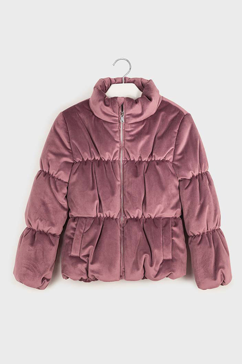Бархатная куртка Mayoral 7411 цв.розовый р.140