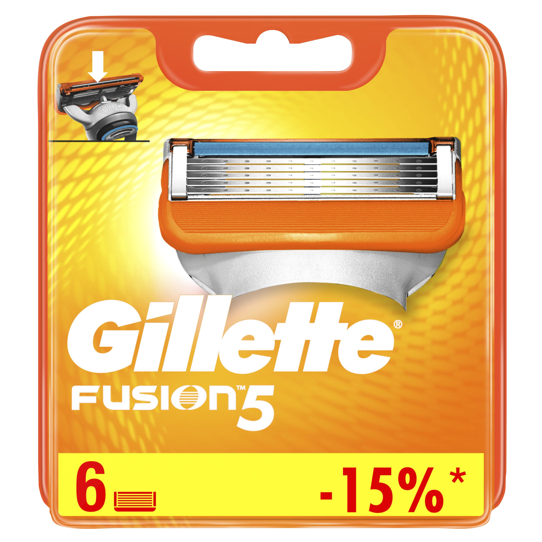 Сменные кассеты Gillette Fusion5 6 шт