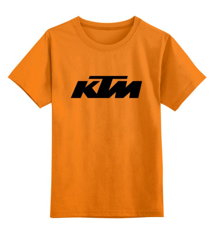 Купить 0000000738795, Детская футболка Printio Ktm moto цв.оранжевый р.152,