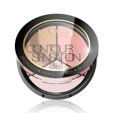 Палитра для макияжа Eveline лица Contour Sensation