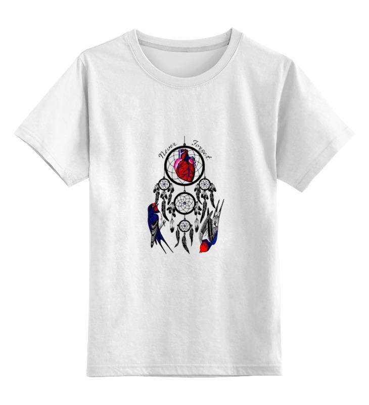 Детская футболка Printio Never forget цв.белый р.152 0000000735631 по цене 790