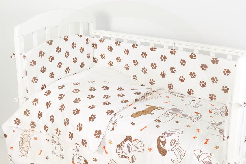 Комплект в кроватку Топотушки Фантазия Лапки бежевый, 6 предметов