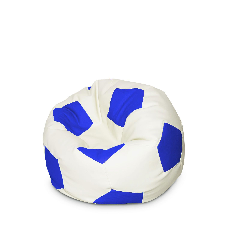 Купить Кресло мешок, Кресло-мяч детский Сине-белый 50х50х50 см, Папа Пуф,
