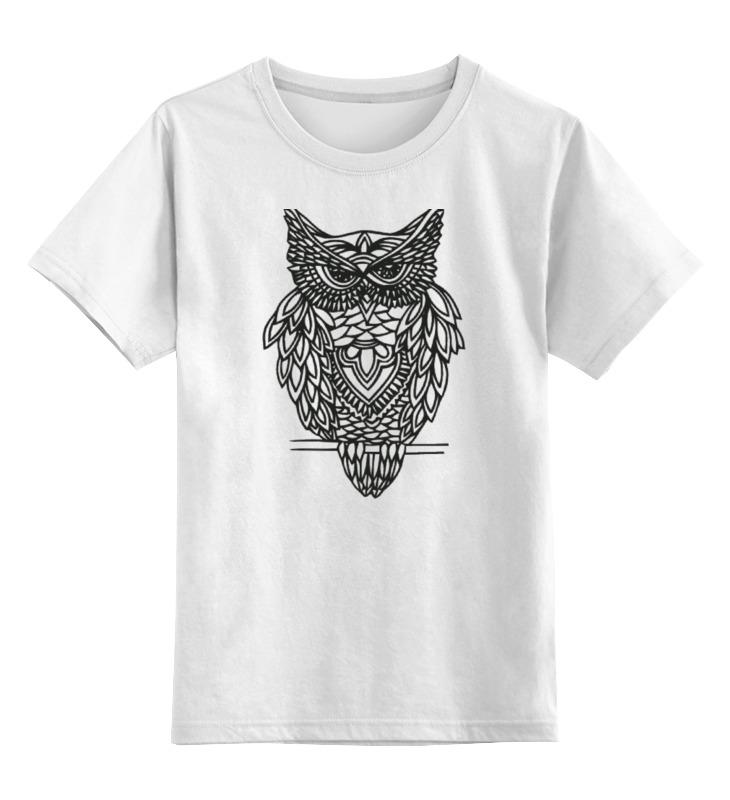 Детская футболка Printio Совушка цв.белый р.164 0000000749481 по цене 790