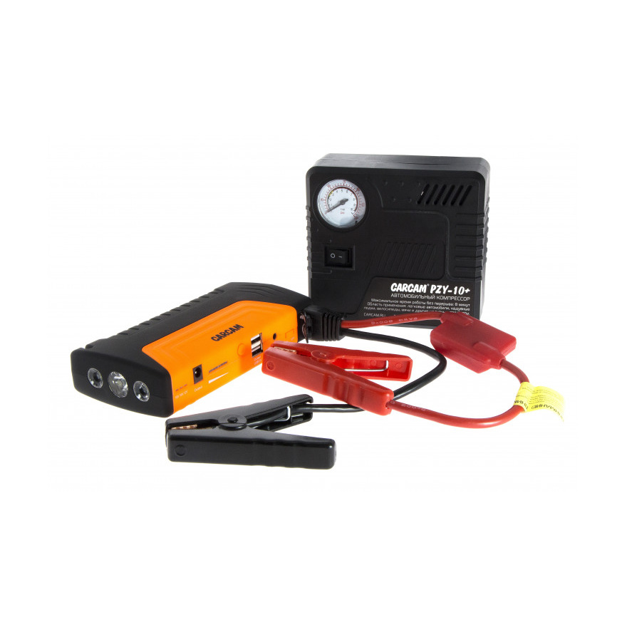 Пуско-зарядное устройство с компрессором CARCAM JUMP STARTER PZY-10+.