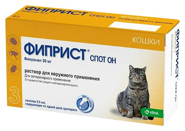 Капли для кошек против блох, власоедов, вшей,