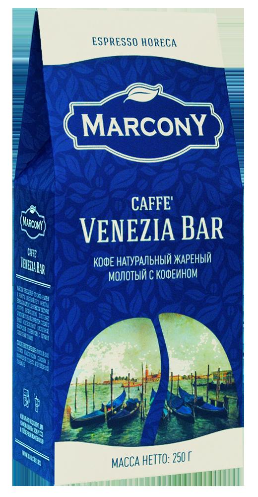 Кофе молотый Marcony Venezia Bar 250г фото