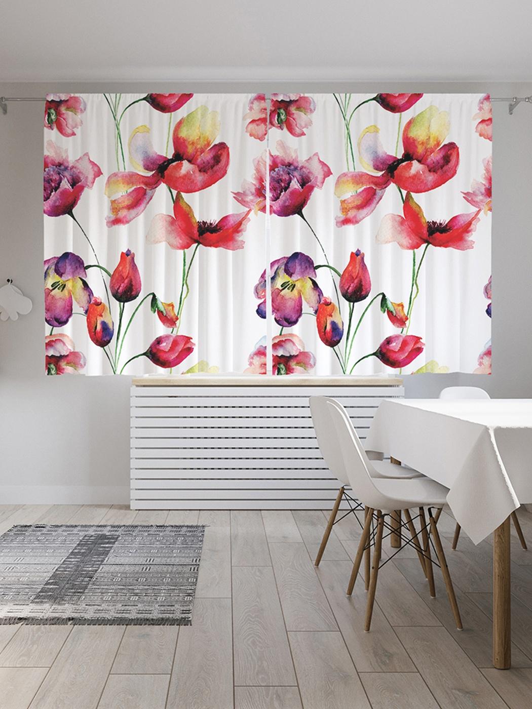 вот фотопечать цветы на шторах каталог теме