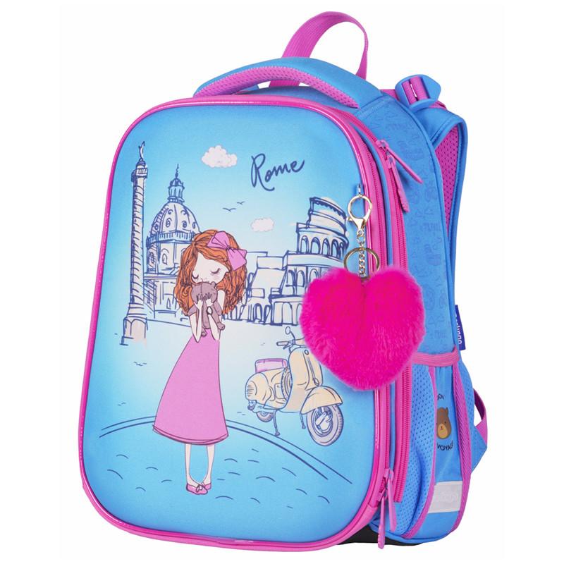 Купить Ранец детский Berlingo Expert. Girl in Rome, 37x28x16 см,