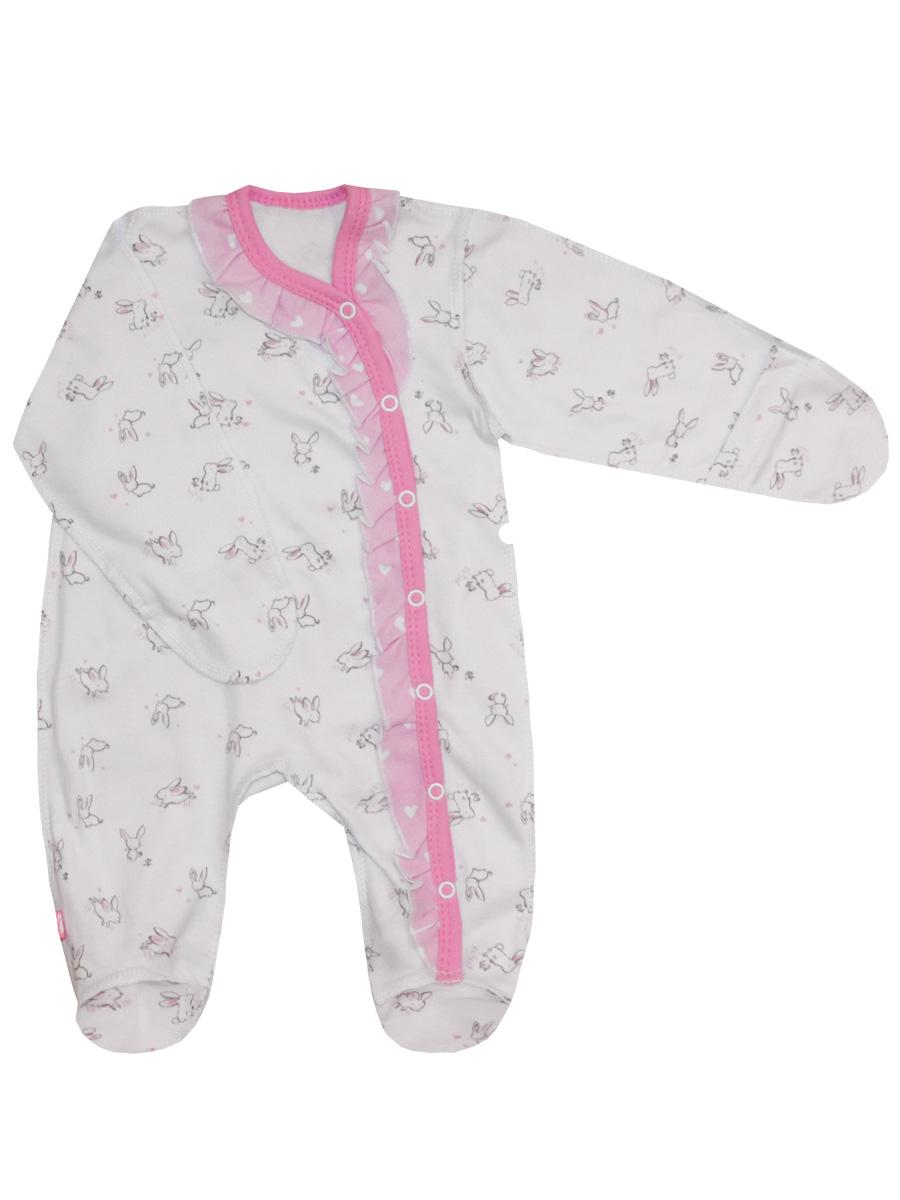 Купить Комбинезон КотМарКот Нежный зайка 6040123 р.56, Трикотажные комбинезоны для новорожденных