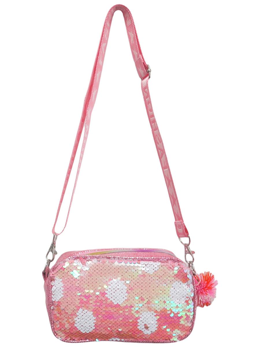 Купить Сумка детская МихиМихи на плечо с пайетками Bright Dreams в горошек, цвет розовый серия 2,