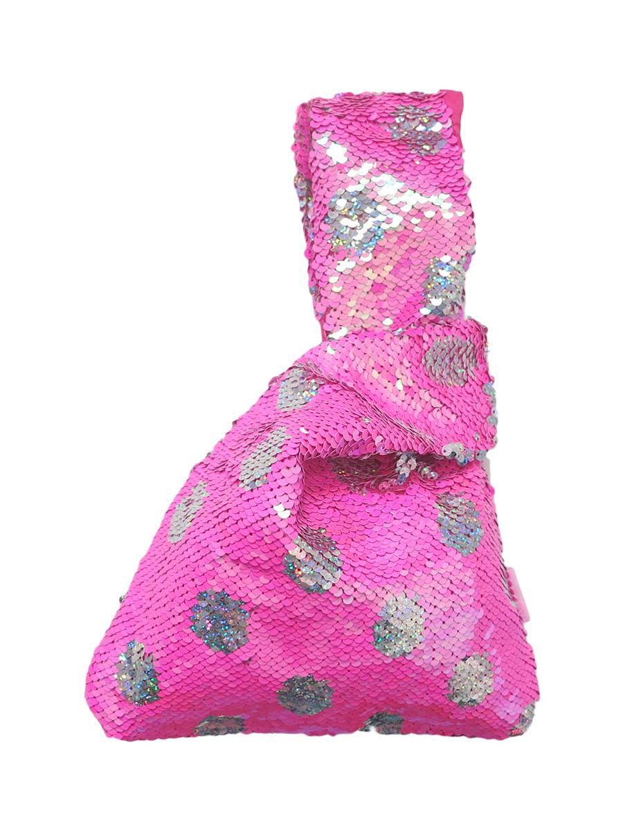 Купить Сумка детская МихиМихи на запястье с пайетками Bright Dreams, цвет фуксия,