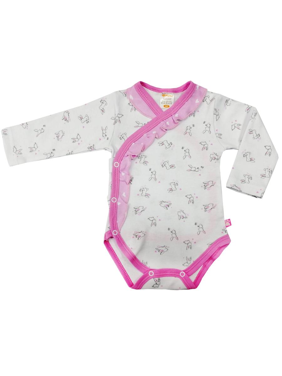 Купить Боди КотМарКот Нежный зайка 9020123 р.74, Боди для новорожденных
