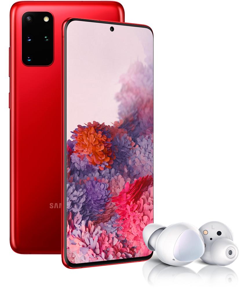 Смартфон Samsung Galaxy S20+ 128Gb Red + Наушники Samsung Galaxy Buds+ White фото
