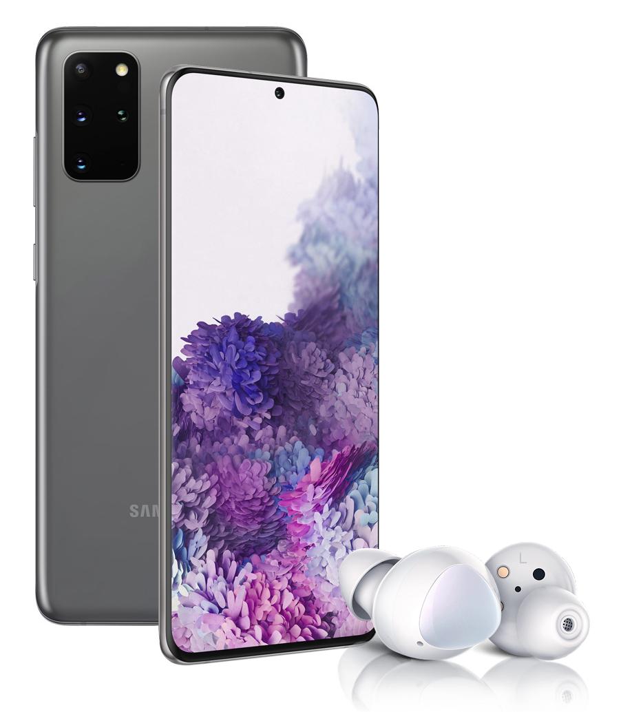 Смартфон Samsung Galaxy S20+ 128Gb Grey + Наушники Samsung Galaxy Buds+ White фото