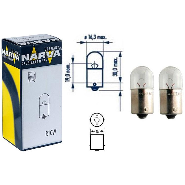 Лампа 24v R10w 10w Narva Standard
