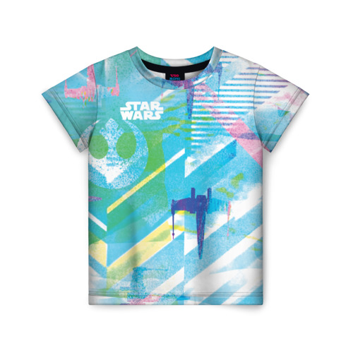 Купить 3D Star Wars - 1688885, Детская футболка ВсеМайки 3D Star Wars, размер 122, VseMayki.ru,