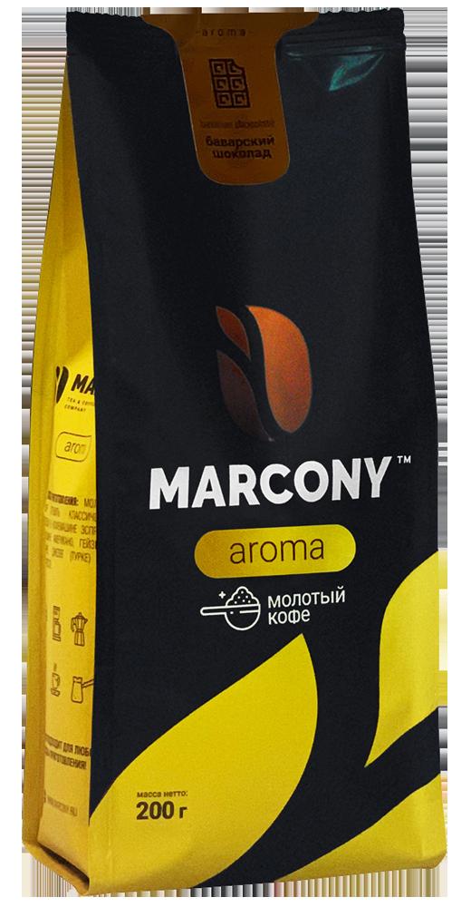 Кофе молотый MARCONY AROMA со вкусом баварского шоколада 200г фото