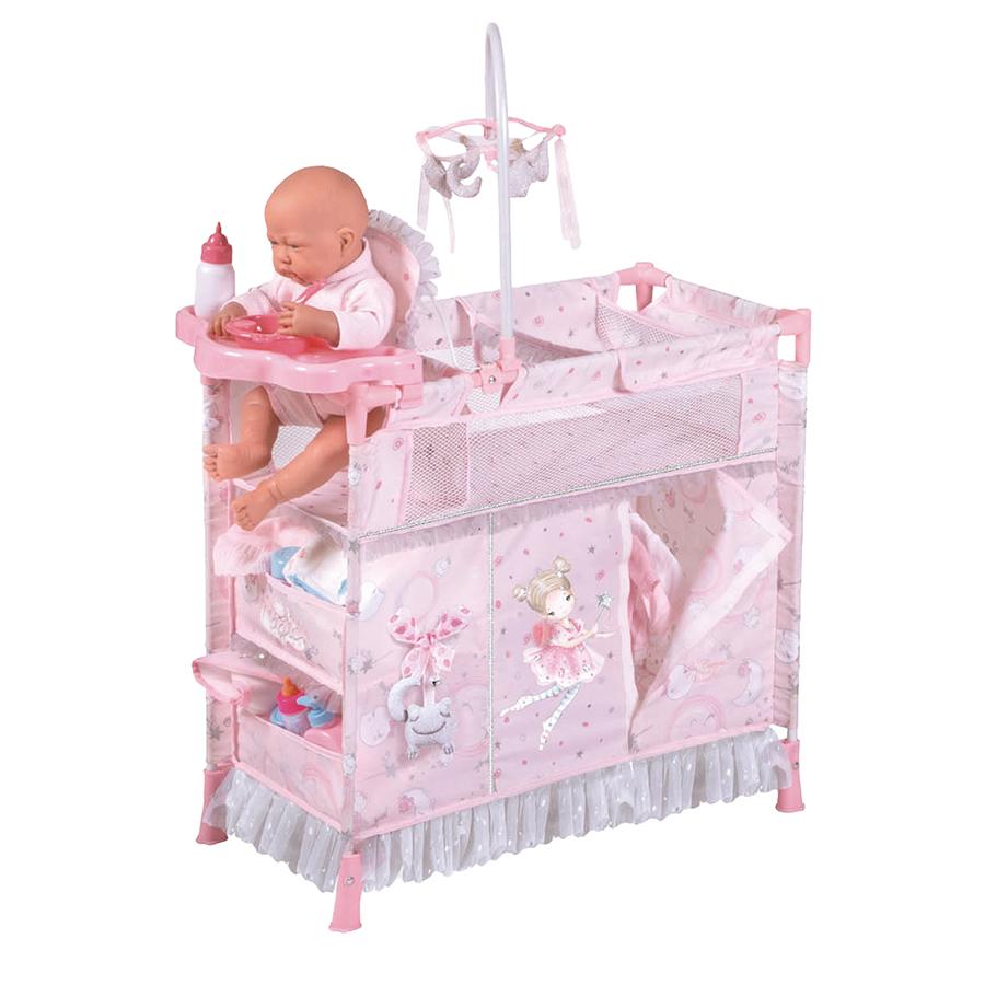Купить Манеж-игровой центр для куклы с аксессуарами серии Мария, 70 см 53034, DeCuevas,
