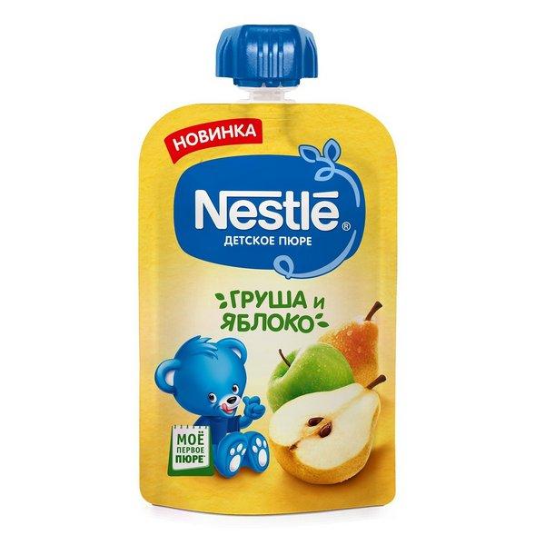 Купить Груша-яблоко, Пюре фруктовое Nestle груша яблоко 90 гр, Фруктовое пюре