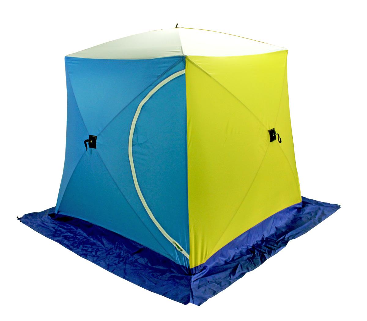 Палатка для рыбалки Стэк Куб двухместная синяя/желтая