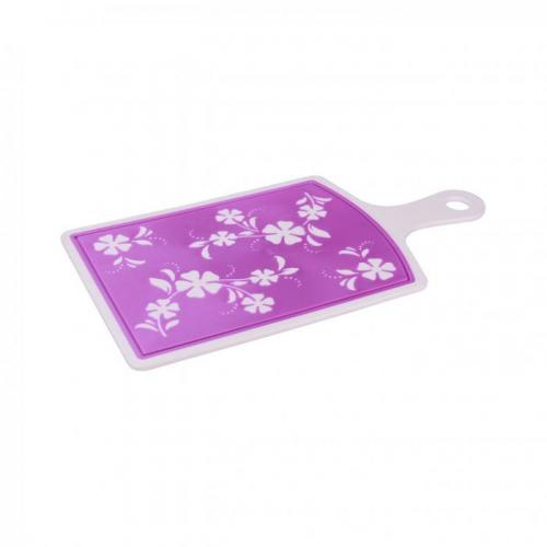 Доска разделочная Альтернатива, Камелия, 40,5*21,5 см, фиолетовый