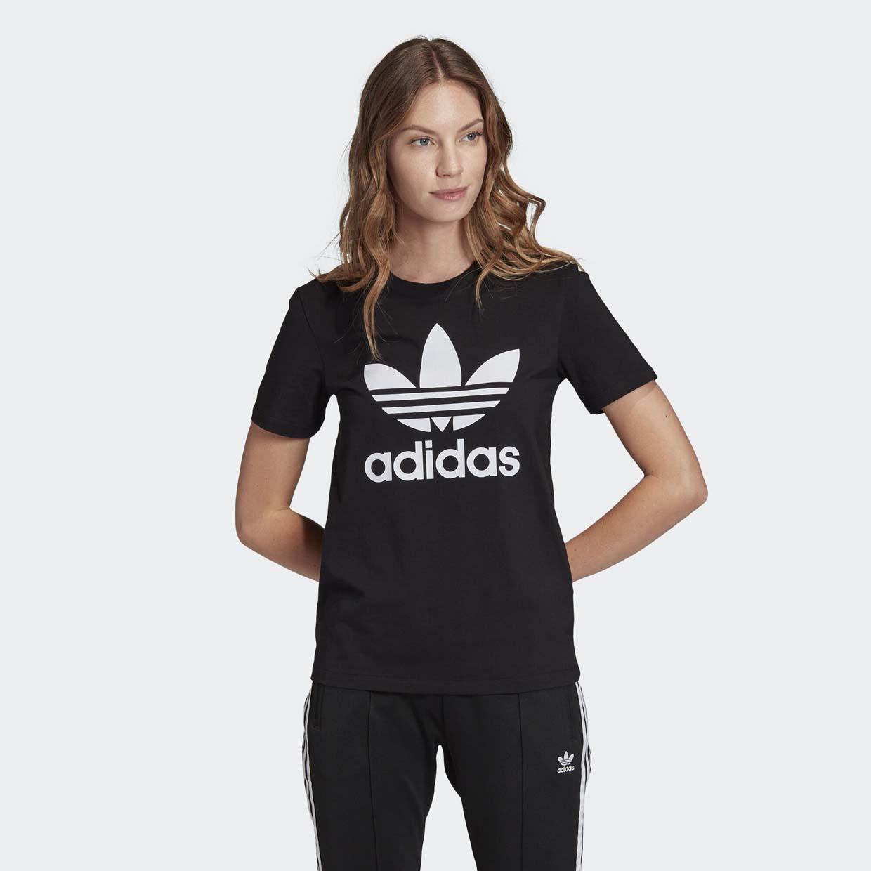 Женская футболка Adidas Trefoil FM3311, черный, 36 DE