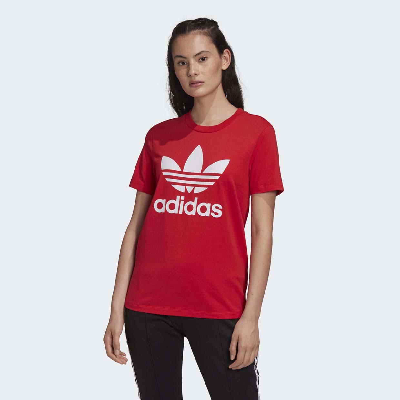 Женская футболка Adidas Trefoil FM3302, красный, 34 DE