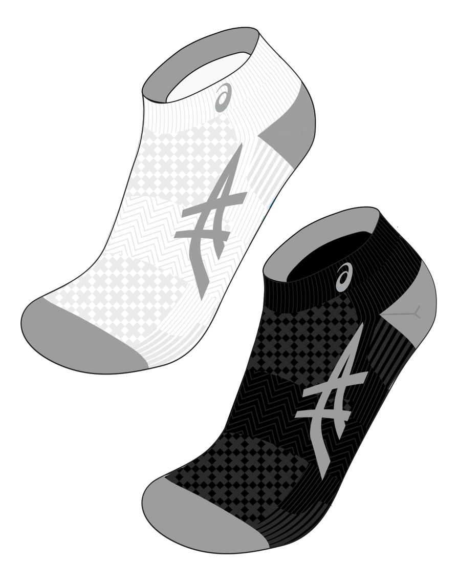 Носки Asics Cushioning 2ppk 130888-0001, белый, 1 US