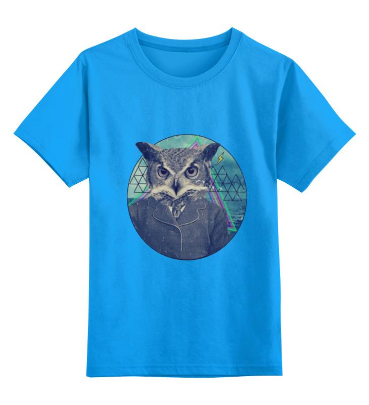 Купить 0000000729986, Детская футболка Printio Сова.сова цв.голубой р.164,