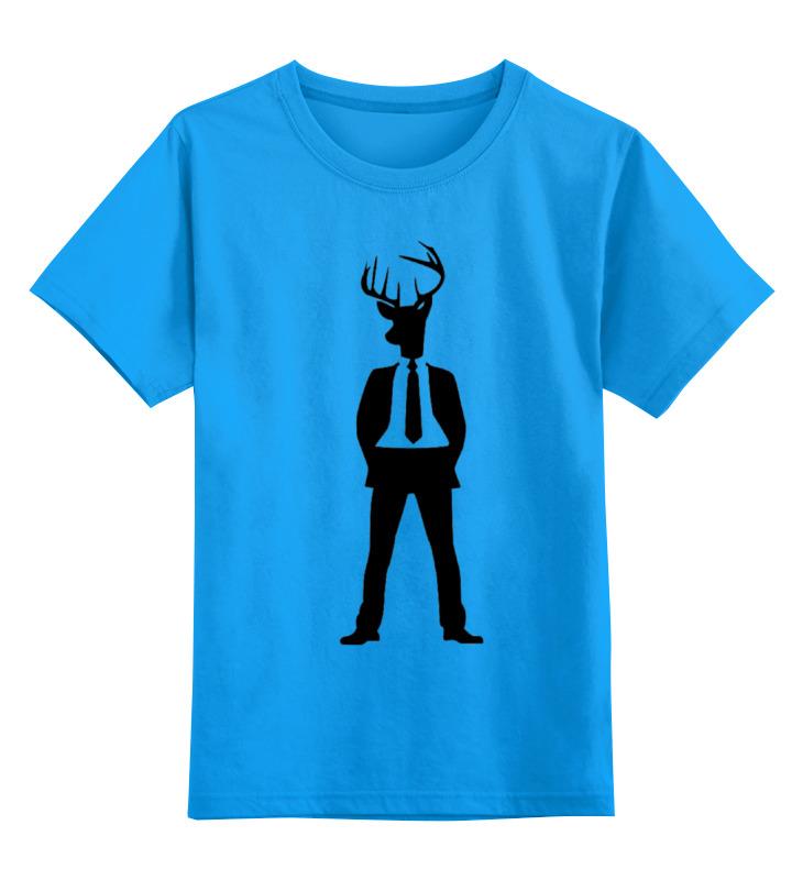Детская футболка Printio Олень цв.голубой р.164 0000000729951 по цене 990