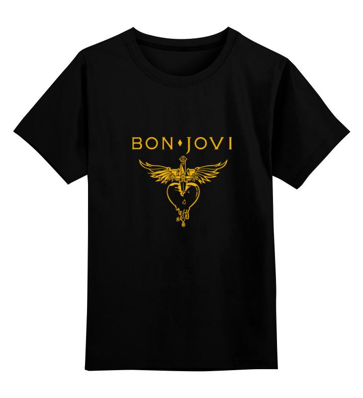 Детская футболка Printio Bon jovi цв.черный р.104 0000000747998 по цене 990
