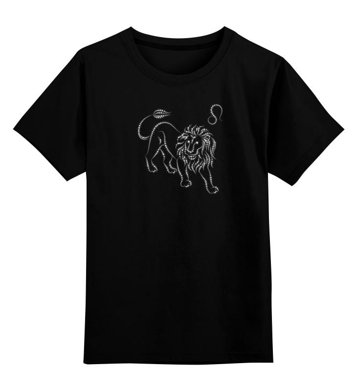Детская футболка Printio Знак зодиака лев цв.черный р.104 0000000739798 по цене 990