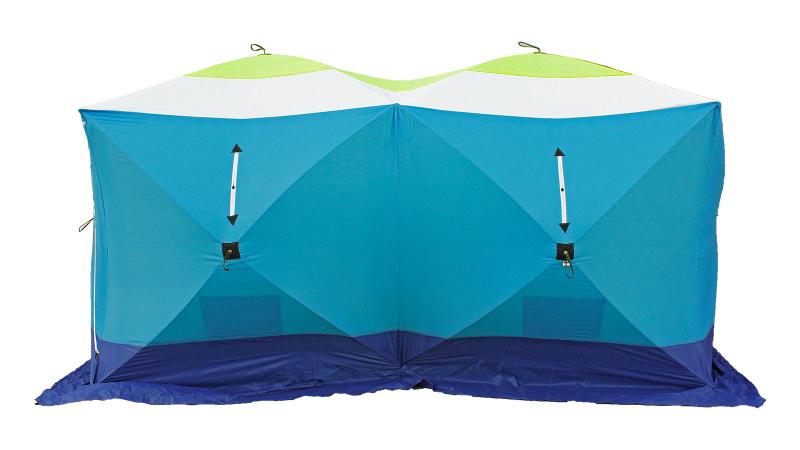 Палатка для рыбалки Стэк Куб шестиместная синяя