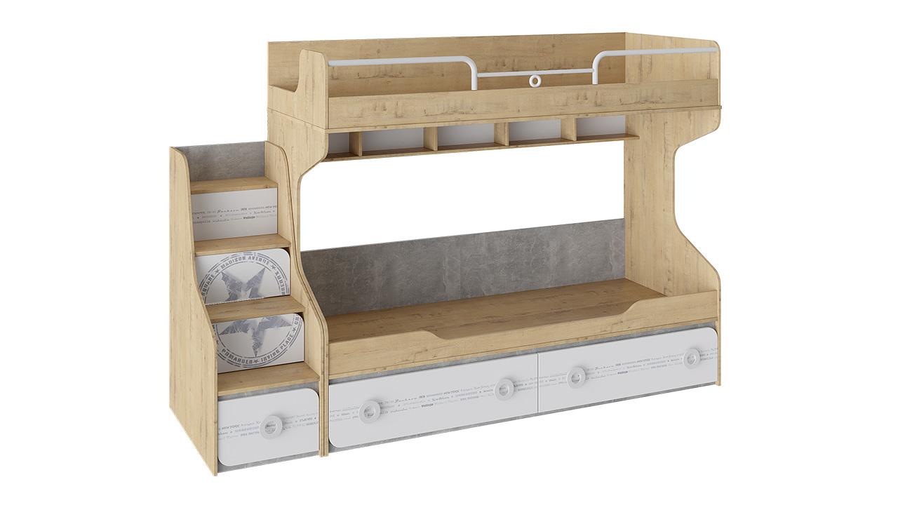 Кровать двухъярусная с приставной лестницей Трия «Мегаполис»