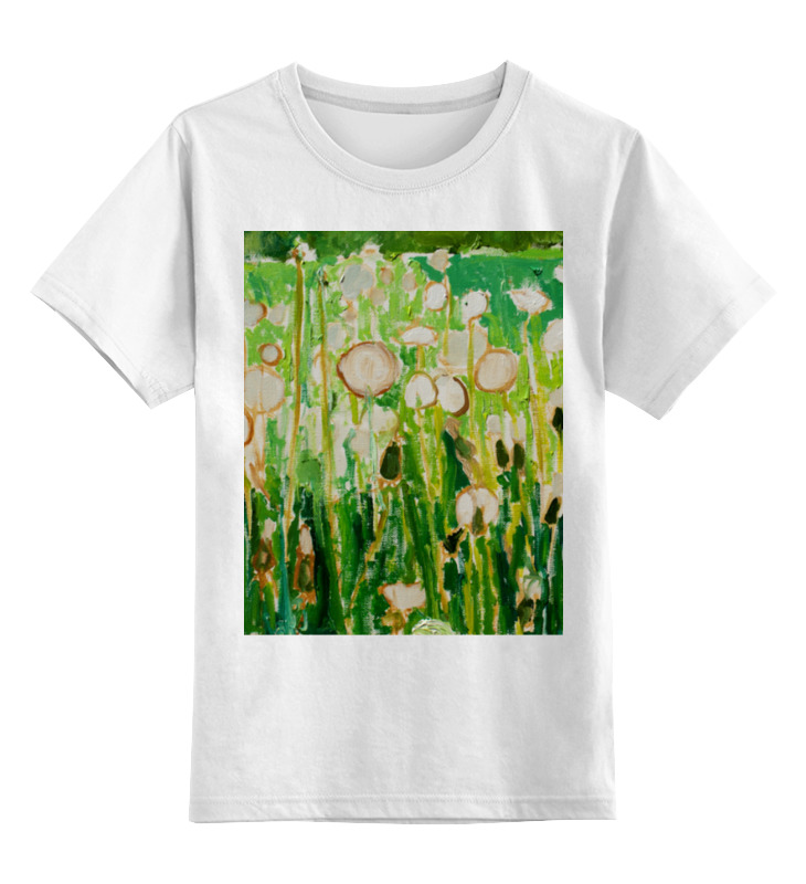 Детская футболка Printio Одуванчики цв.белый р.104 0000000737532 по цене 790
