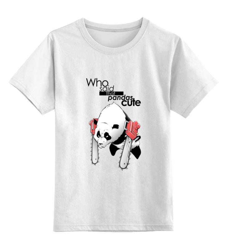 Детская футболка Printio Cute? цв.белый р.104 0000000732666