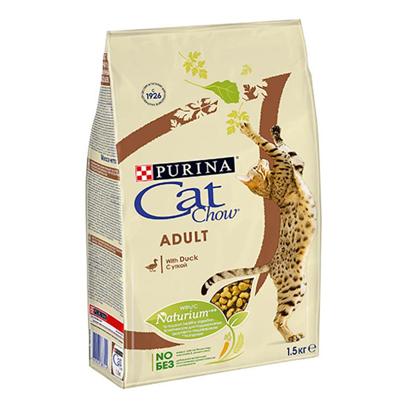 Сухой корм для кошек Cat Chow Adult, утка, 1,5кг фото